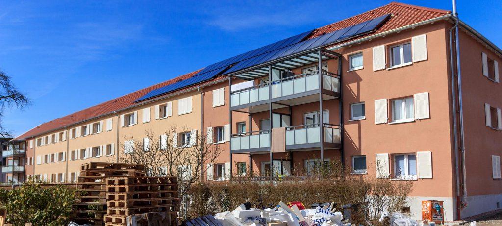 Sanierung in Schopfheim, Fenstermontage